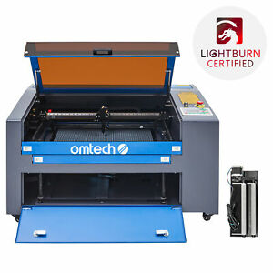 2021 Co2 Laser Engraver Cutter Engraving Cutting 60w 24 x16 With Rotation Axis