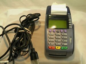 Veriphone Omni 3750 Credit Card Terminal W Power Cord Papers Working