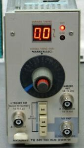 Tektronix Tg501 Option 1 Time Mark Generator Refurbed Tested Good read