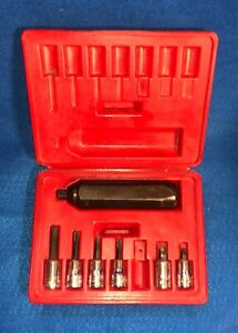 Snap On Pit120 Hand Impact Driver Set 3 8 Drive Screwdriver Sockets Case