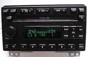01 03 Ford Explorer Mustang Cougar Expedition Oem Radio Am Fm Cd6 Changer
