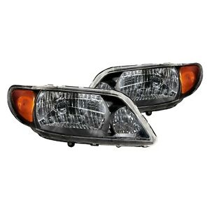 Anzo Euro Powerful Headlights Set Black For 2001 2003 Mazda Protege 121107