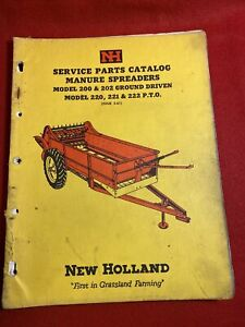 New Holland 200 202 Ground Driven 220 221 222 Pto Manure Spreader Parts Catalog