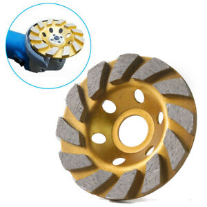 4 Inch Diamond Segment Grinding Wheel Cup Disc Grinder Concrete Stone Cut