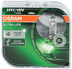 Osram Ultra Life H11 64211ult Hcb 2 Pieces Headlamps Foglights Bulbs Lamps