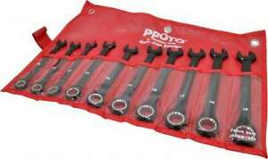 Proto 10 Piece 10mm To 19mm 12 Point Combination Wrench Set Metric Measurem