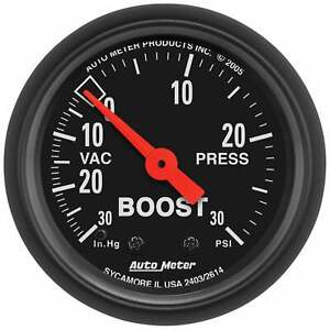 Autometer 2614 Z Series Vac Boost 2 1 16 In Mechanical