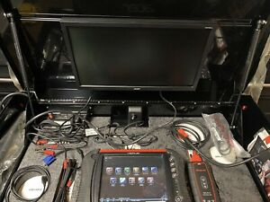 Snap On Verus Scanner With Diagnostic Center And Tool Box Cart