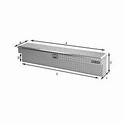 Lund Truck Bed Side Rail Tool Box 5748