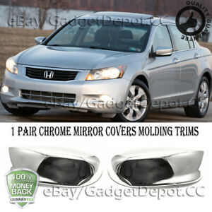 For Honda Accord 2008 2009 2010 2011 2012 Chrome Side Mirror Covers Cover