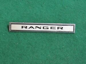 Vintage Chrome Ford Ranger Chrome Dash Interior Emblem W Pins C56b 16098 a