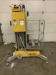 Grove Pm31dc 25 Electric Personnel Scissor Vertical Mast Man Lift