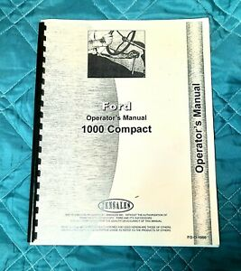 Ford 1000 Compact Operators Manual Jensales Nice Condition