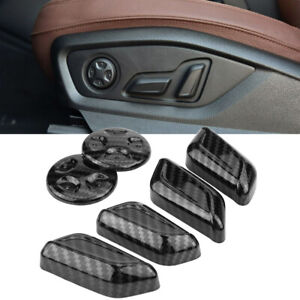 Gloss Carbon Fiber Print Seat Adjust Button Plastic Cover For 16 20 Mk3 Tt