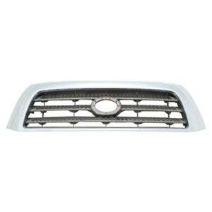 New Grille Silver Gray Front Fits 2007 2009 Toyota Tundra 796851542 To1200303