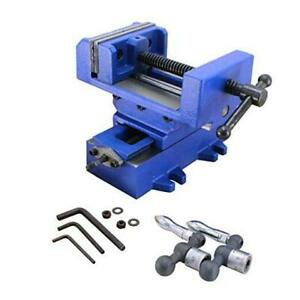 r Compound Cross Slide Industrial Strength Benchtop Drill Press Vise 3in