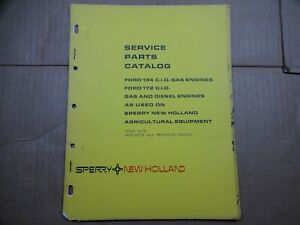 New Holland Ford 134 172 Cid Gas Diesel Engines Parts Catalog Manual 3 74