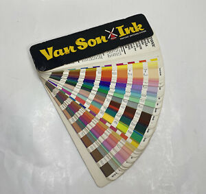 Van Son Holland Ink Pantone Matching System Formula Color Guide 17th Ed 1982 83