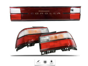 For 93 98 Toyota Corolla Rear Taillights Set Lamps And Center Bord Jdm Ae100