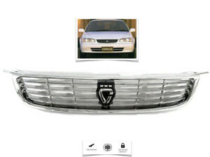 For 2001 2002 Toyota Corolla Ae110 Ae110 Front Hood Grill Chrome Jdm Style