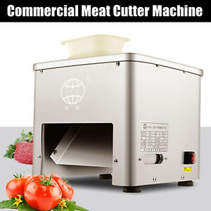 110v Stainless Commercial Electric Meat Slicer Cutting Machine Cutter 160kg hour