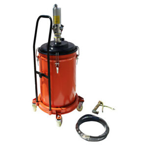Grease Pump Air Pneumatic Lubricator Compressed Injector With Gun Hose 9 2gallon