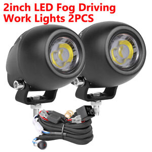 2x 3inch Round Led Work Light Spot Pods Off Road Driving Fog Lights Car Wiring