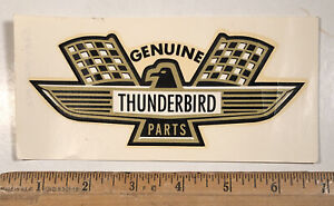 Vintage 1960s Genuine Ford Thunderbird Parts Water Slide Decal Hot Rod Nascar