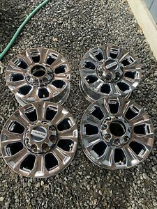 10097 Ford F250 F350 18 Factory Oem Pvd Chrome Wheels Set 2017 2020 Lc3c1007na