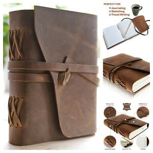 Leather Journal Writing Notebook Antique Handmade Leather Bound Daily Notepad