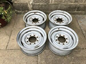 4 16x7 8 Lug Steel Wheels 8x6 5 Bolt Patern Ford Will Fit 73 87 Chevy Truck 4x4