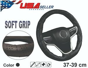 Steering Wheel Cover Black Faux Leather Diy Lace Up Wrap Usa Seller