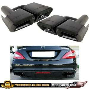 Cls63 Tips Cls Black Muffler Dual Exhaust Logo Pipe High Quality W218 W219 06 17