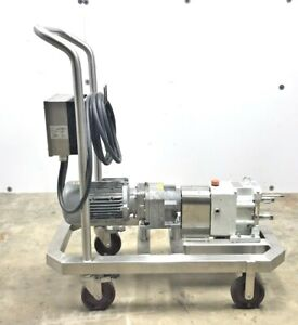 Fristam Fl2 Lobe Model 75s Positive Displacement Pump Motor And Gear Box