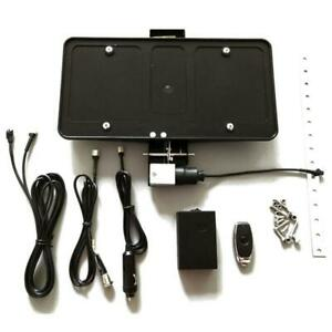 Flip Usa Retractable License Plate Frame Remote Control Stainless Steel Bracket