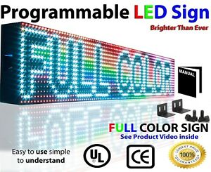Marquee Led Signs 7 X 76 Digital Billboard Multi color Still Scrolling Display