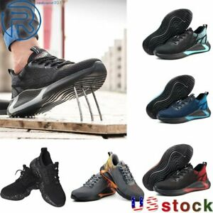Men s Safety Work Shoes Steel Toe Indestructible Boots Lightweight Sneakers