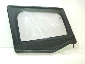 Jeep Wrangler Yj 87 95 Soft Top Half Door Passenger Leather Black Free Shipping