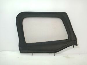 Jeep Wrangler Yj 87 95 Soft Top Half Door Passenger Bestop Black Vinyl Free Ship