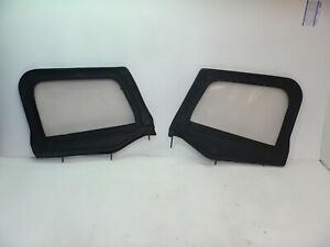 Jeep Wrangler Yj 87 95 Soft Top Half Door Pair Bestop Black Vinyl Free Shipping