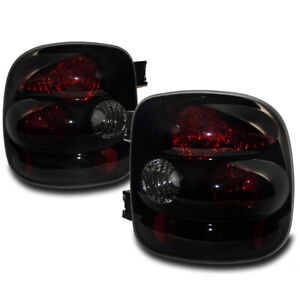 For 1999 2004 Chevy Silverado Gmc Sierra Stepside Black Smoke Tail Lights Lamp