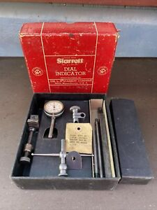 Starrett Dial Test Indicator No 196a Complete Set In Original Packaging