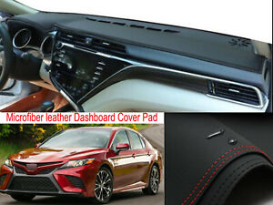 Leather Dash Mat Dashboard Cover Dashmat Interior Pad For Toyota Camry 2018 2021