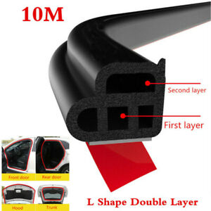 1 Pcs Double Layer Seal Strip Car Door Trunk Weather Strip Edge Moulding Parts
