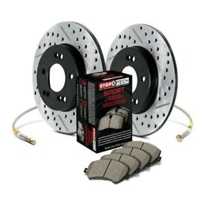 For Honda Accord 11 17 Stoptech Sport Drilled Slotted 1 Piece Rear Brake Kit