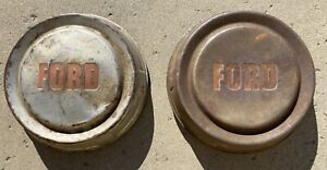 Vintage Oem 1957 1958 1959 60 Ford F100 Pickup Truck Poverty Dog Dish Hubcaps 2