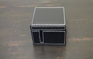Levenger Morgan Postage Stamp Holder Black New In Box