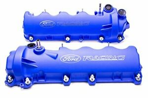 2005 2010 Mustang Gt 4 6l Ford Racing M 6582 fr3vbl Etched Blue Cam Valve Covers