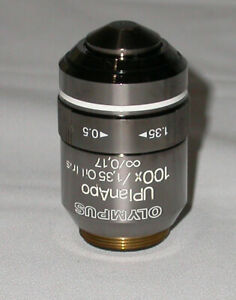 Olympus Uplanapo 100x Oil Mmersion Objective Lens With Iris