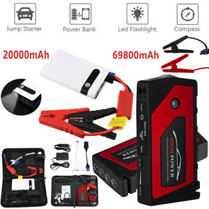 20000 69800mah 12v Car Jump Starter Portable Power Bank Battery Booster Charger